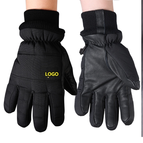 Minus 26 degrees cold resistant thermal winter Ergonomic fit Nylon and Goatskin leather Insulated work grip glove for Freezer or cold store