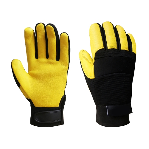 Premium A Grade Grain deerskin leather Thinsulate insulated thermal mechanical rigger glove