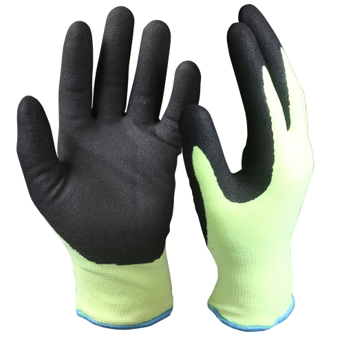 EN511 Cold resistant proof Hi vis yellow Dual layer Winter thermal insulated Grip work Freezer Arctic Glove