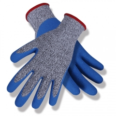 ANSI cut level A3 13G HPPE glass blend Crinkle Latex Coated cut resistant work glove