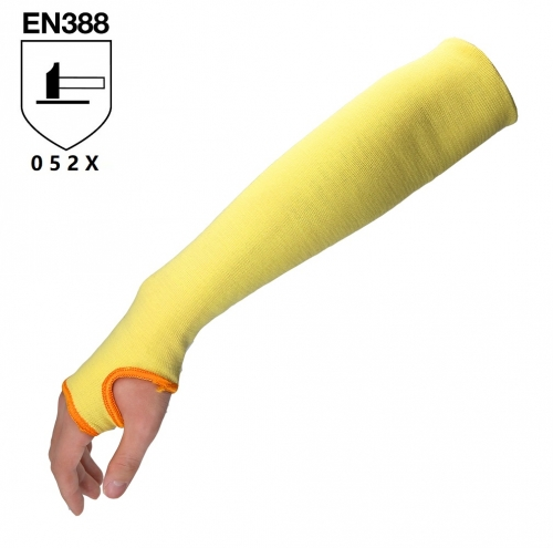 EN388 Arm cut protection aramid cut resistant level 5 sleeve with Thumb Hole 18 inch length