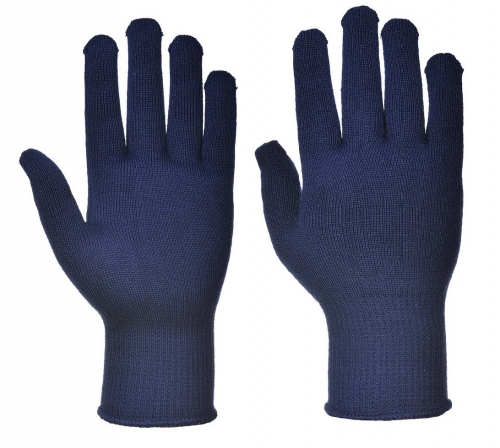 13G Polyester Hollow Core thermal thermolite knitted glove liner for Cold strorage or Winter outdoor sport