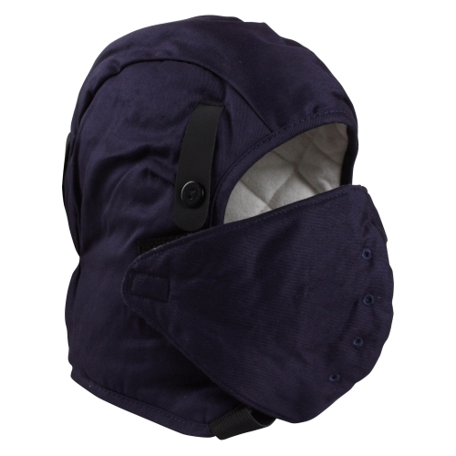 ce89eaa0f60 Long neck fire retardant cotton quilted Safety helmet hard hat winter liner  with face mouth mask