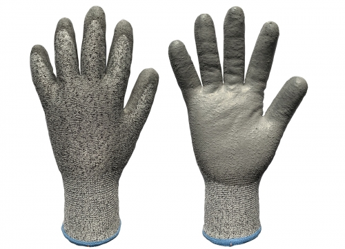 PU coated Cut resistant level 5 thermal insulated work glove for Cold Storage or glass industry