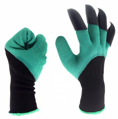 Garden genie glove with ABS plastic claws for gardening ,digging raking safety