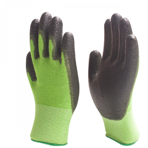Eco friendly Breathable Bamboo work glove with Nitrile dipped for gardening ,Fishing, Landscaping
