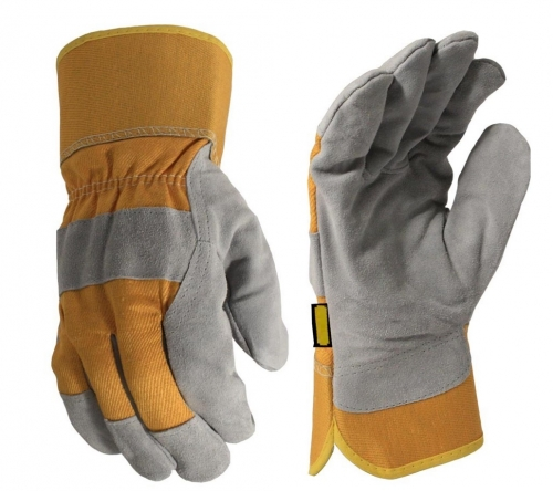 Deliwear Thinsulate lined Winter thermal Cow Split Leather Work Rigger Gloves