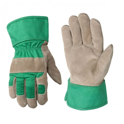 Deliwear Kids Leather Work Rigger Garden Gloves for Landsaping Gardening Lawning Working