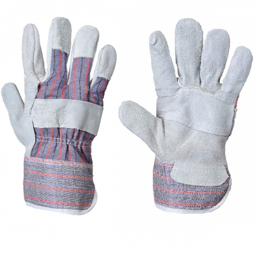 Deliwear Children Garden Leather Rigger Work Gloves for Landsaping Gardening Lawning Construction