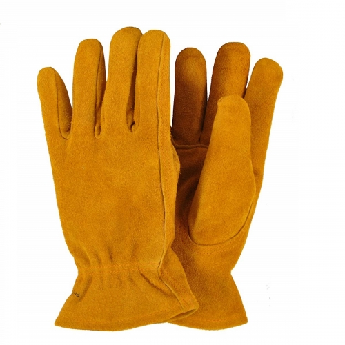 Deliwear Kids Genuine Cowhide Split Leather garden Work Gloves, Kids Garden Gloves
