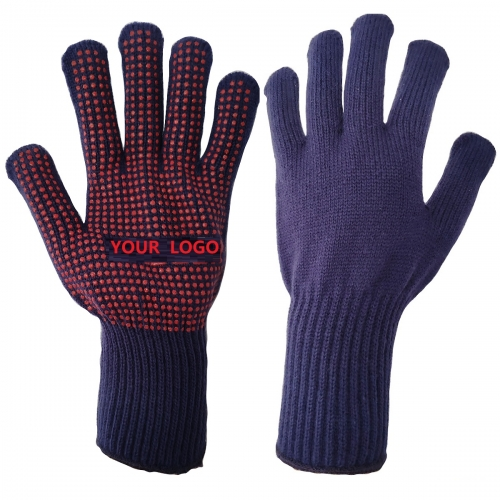 High Grade Thermal Acrylic Wool PVC polka dot Chiller Glove