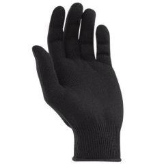 Deliwear Black Hollow core thermal Thermolite glove liner with grip Polka dots for Ski glove liner freezer glove liner