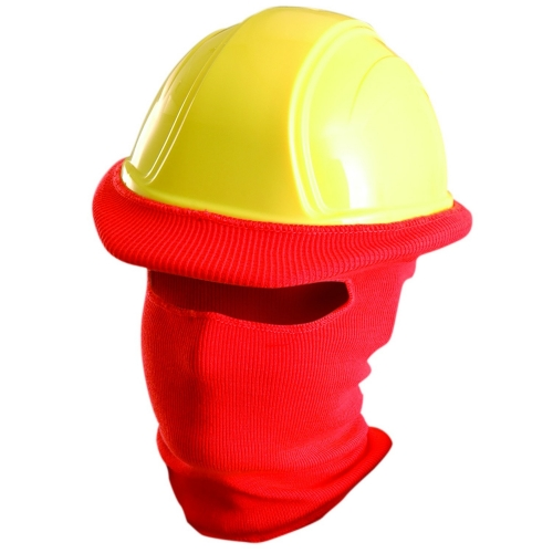Cold protection thermal Acrylic Knitted open face Hard hat Winter tube liner