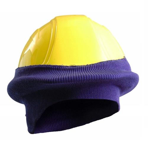 Winter Cold weather thermal Acrylic Short Size Knitted Tube Hard Hat Liner