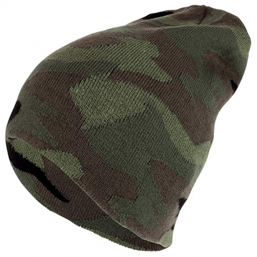 Winter warm thermal Acrylic knit Camouflage Beanie hat for Hunting Fishing Camping