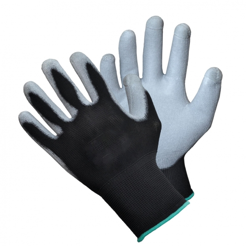 PU palm coated Touch screen compatible fingertips Safety work gloves
