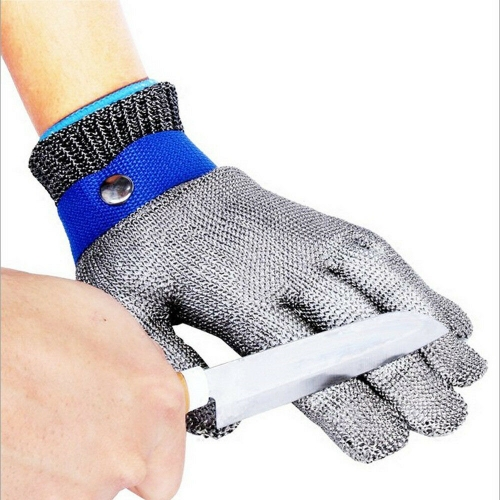 FDA level 5 Cut resistant Safety Work Chainmail Stainless Metal Mesh Steel Wire Glove Butcher for Meat Cutting fishing