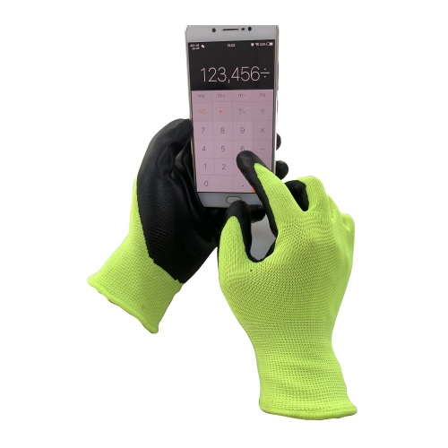 Touch Screen Nitrile Dip Grip Oil Resistant Work Picking Gloves for Warehouse Package Garden Automotive Construction Assemble