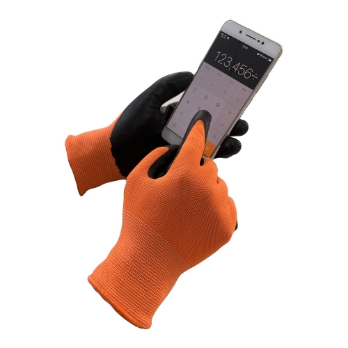 Waterproof Oil Resistant Nitrile Dip Grip Touch Screen Work Gardening Gloves for Gardener Automotive Construction