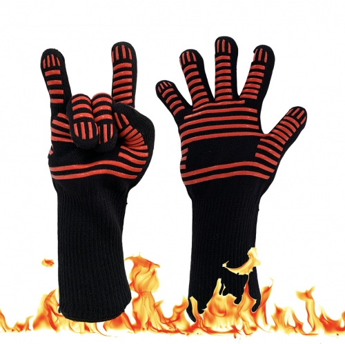 932F Degrees High Heat resistant Cool hand Cheap charcoal bbq grills Gloves for Kitchen Oven Fireplace Barbecue Grilling