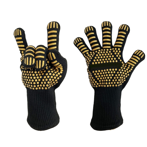 500 Degrees High Heat resistant Hot bbq grill Gloves for Kitchen Oven Fireplace Barbecue Grilling