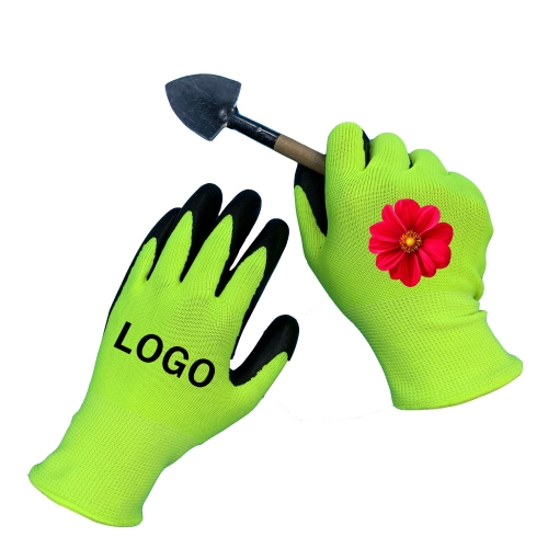 Custom Logo Waterproof Nitrile coated Grip Touch Screen Safety Work Garden Gloves for Gardener Automotive Construction