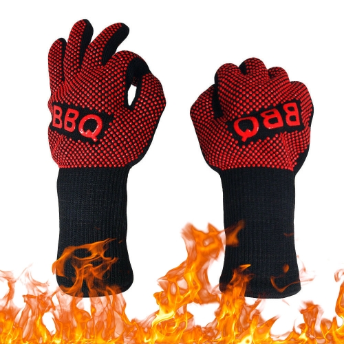 500 Degrees Heat Resistant Food Grade safety Silicone BBQ Oven Gloves Mitten for Kitchen accessories Hot Pot handler Baking