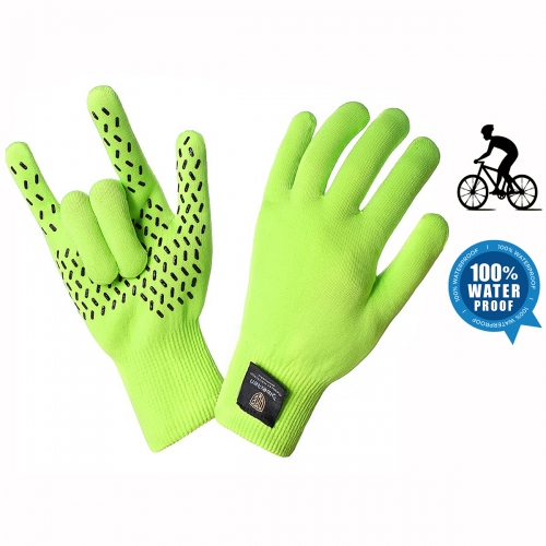 Custom 100% Waterproof Bicycle glove Anti slip Bike glove Water proof Full finger Touch screen Cycling glove Winter thermal