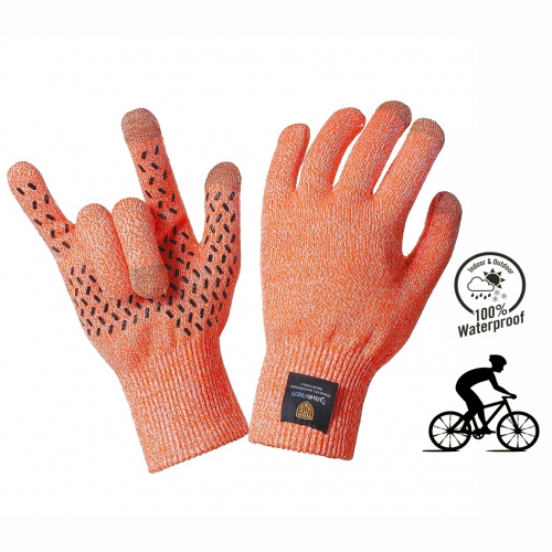 Custom Logo Cut Resistant Non Slip Waterproof Knitted Riding Cycling Gloves for Racing Bike Motorcycle Touch Screen