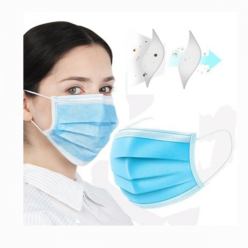 3 layers Disposable face Mask Three ply Non woven Dust proof Blue mask kids adults Ear loop Face mask Fast delivery In stock