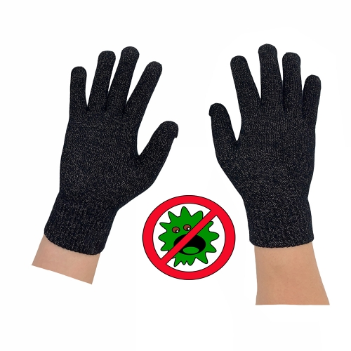 Custom Logo Cool Breathable Light Weight safety Work Glove Antimicrobial glove with Silver Touch screen